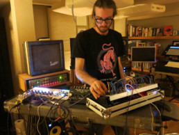 Gahlord Dewald turning knobs and plugging wires