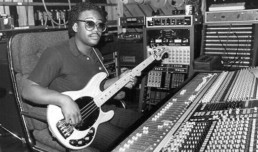 Bernard Edwards of Chic fame with his StingRay in the studio