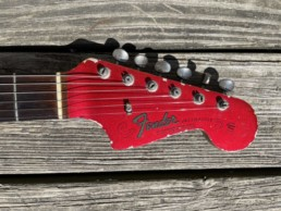 1965 Fender Jazzmaster Candy Apple Red headstock